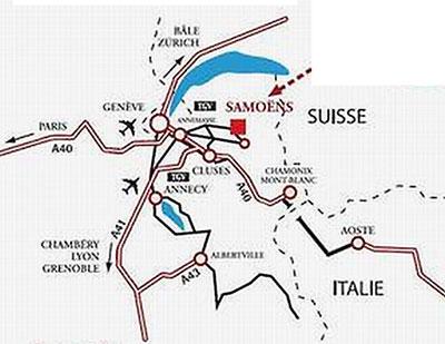 Accès route pour Samoens